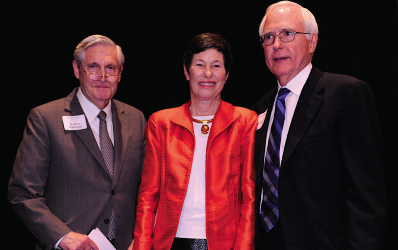 Dr. Kern Wildenthal, Lyda HIll and Bill Solomon