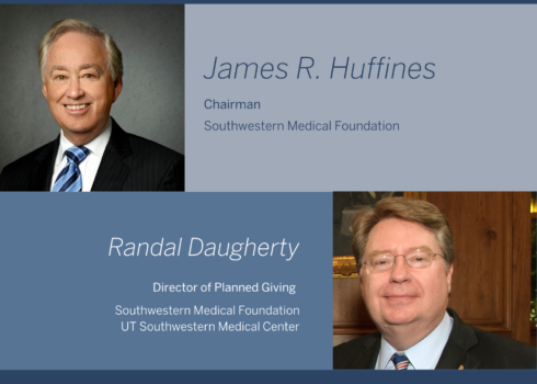 James Huffine snad Randal Daugherty photo collage with text